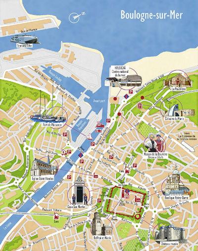 Carte de Boulogne-sur-Mer