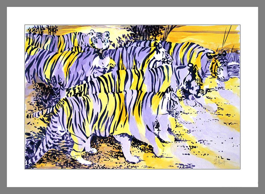 Tigres-aquarelle